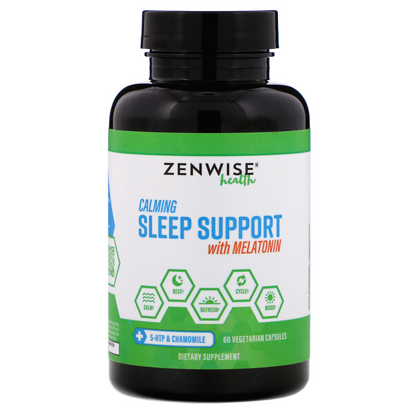 Calming Sleep Support with Melatonin, 60 Vegetarian Capsules