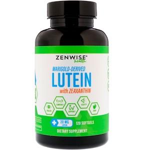 Зенвайз Хэлс, Marigold-Derived Lutein with Zeaxanthin, 20 mg, 120 Softgels отзывы покупателей