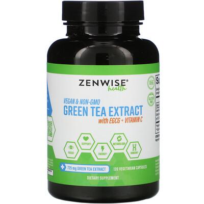 Zenwise Health Экстракт зеленого чая с EGCG и витаминомC, 120растительных капсул