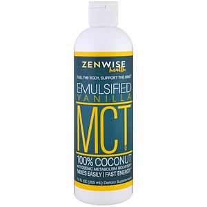 Зенвайз Хэлс, MCT Oil, 100% Coconut, Emulsified Vanilla , 12 fl oz (355 ml) отзывы