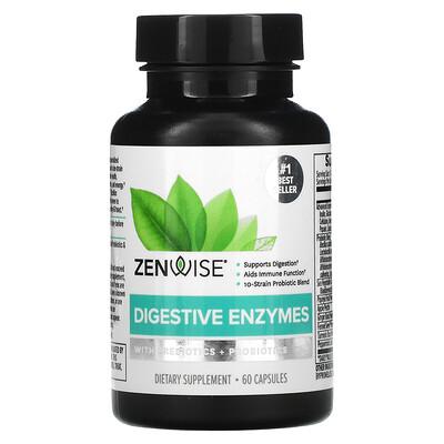 Купить Zenwise Health Digestive Enzymes with Prebiotics + Probiotics, 60 Capsules