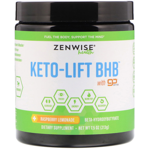 Zenwise Health, Keto-Lift BHB, Beta-Hydroxybutyrate, Raspberry Lemonade, 7、5 oz (213 g)