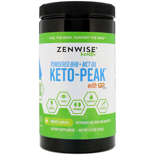 Zenwise Health, Keto-Peak, Ketogenic Metabolism Booster, Smooth Limeade, 12.5 oz (352 g)