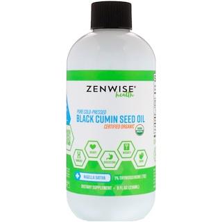 Zenwise Health, Organic, Pure Cold-Pressed, Black Cumin Seed Oil, 8 fl oz (236 ml)