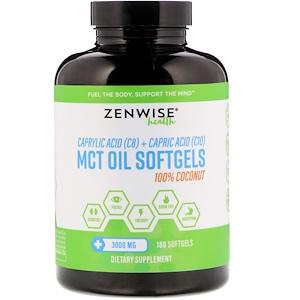 Зенвайз Хэлс, 100% Coconut MCT Oil, 3,000 mg, 180 Softgels отзывы