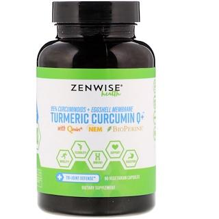 Zenwise Health, Turmeric Curcumin Q+, with Qmin+ & Nem & BioPerine, 90 Vegetarian Capsules