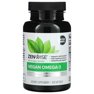 Zenwise Health, Marine Algae Derived Vegan Omega-3, 120 Softgels