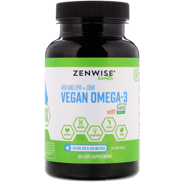 Zenwise Health, Vegan Omega-3 with Life's Omega, 120 Softgels