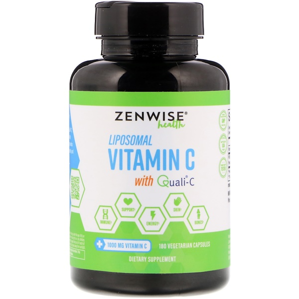 Zenwise Health, Liposomal Vitamin C with Quali-C, 180 Vegetarian Capsules