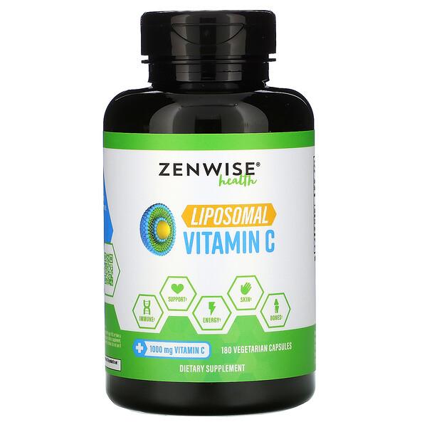 Liposomal Vitamin C, 1,000 mg, 180 Vegetarian Capsules