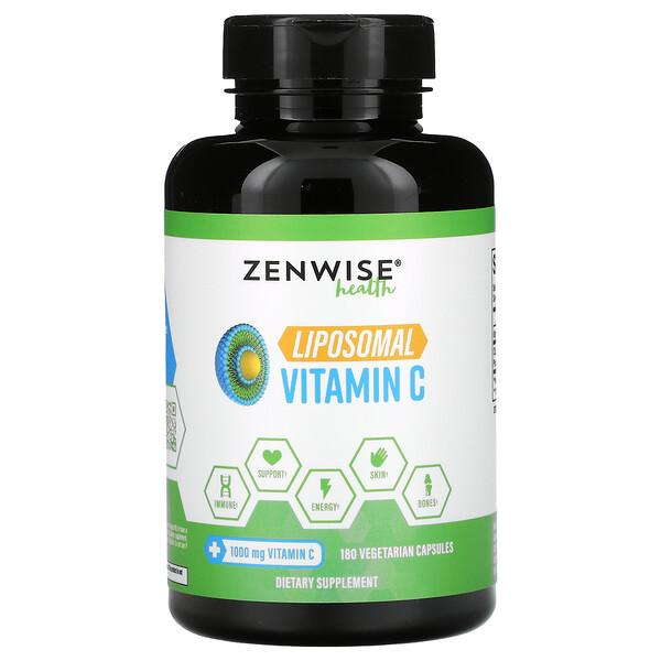 Zenwise Health, Liposomal Vitamin C, 1,000 mg, 180 Vegetarian Capsules