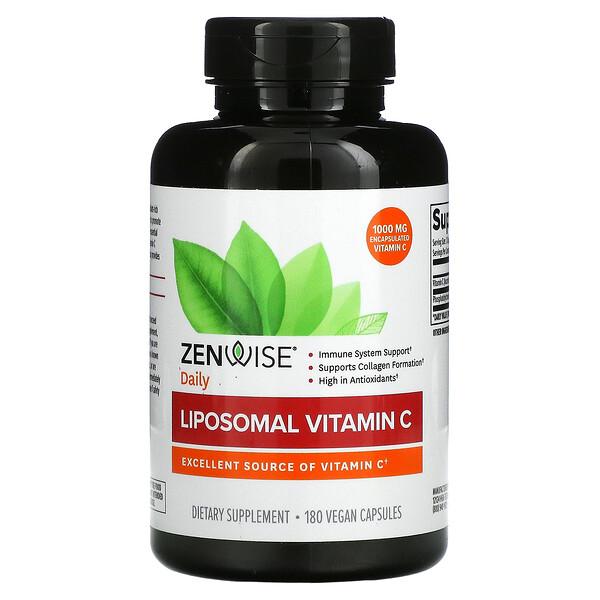 Liposomal Vitamin C, 500 mg, 180 Vegan Capsules