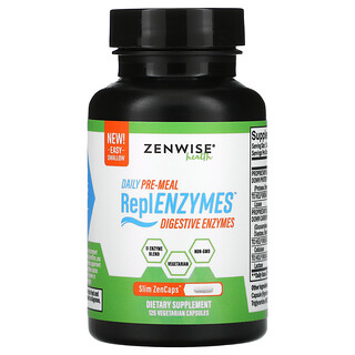 Zenwise Health, Daily Pre-Meal, ReplENZYMES, Digestive Enzymes, 125 Vegetarian Capsules