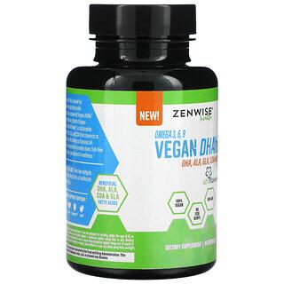 Zenwise Health, Omega 3, 6, 9 Vegan DHAhi, 60 Softgels