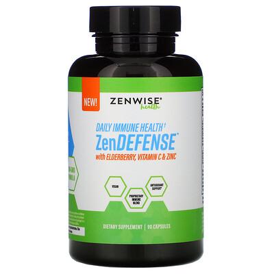 Zenwise Health ZenDEFENSE with Elderberry, Vitamin C & Zinc, 90 Capsules