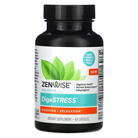 Zenwise Health, DigeSTRESS, Digestion + Relaxation, 60 Capsules