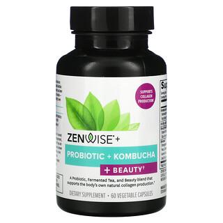 Zenwise Health, Probiotic + Kombucha + Beauty, 60 Vegetable Capsules