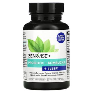 Zenwise Health, Probiotic + Kombucha + Sleep, 60 Vegetable Capsules