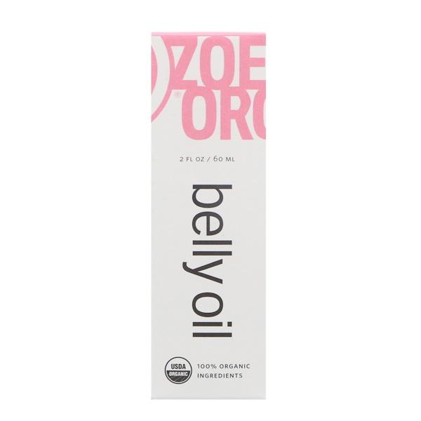 Zoe Organics, Organic Belly Oil, 2 fl oz (60 ml)