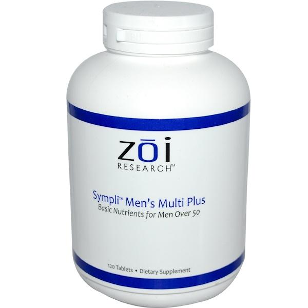 ZOI Research, Sympli Men's Multi Plus, 120 Tablets (Discontinued Item)