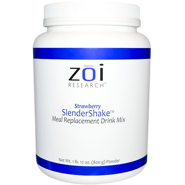 ZOI Research, SlenderShake, Meal Replacement Drink Mix, Strawberry, 1 lb 12 oz (800 g) (Discontinued Item)