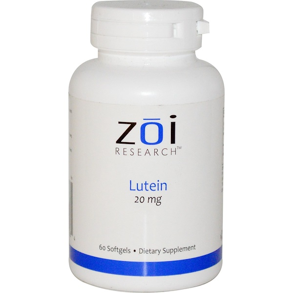 ZOI Research, Lutein, 20 mg, 60 Softgels (Discontinued Item)