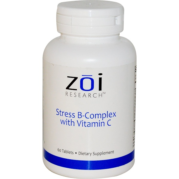 ZOI Research, Stress B-Complex with Vitamin C, 60 Tablets (Discontinued Item)