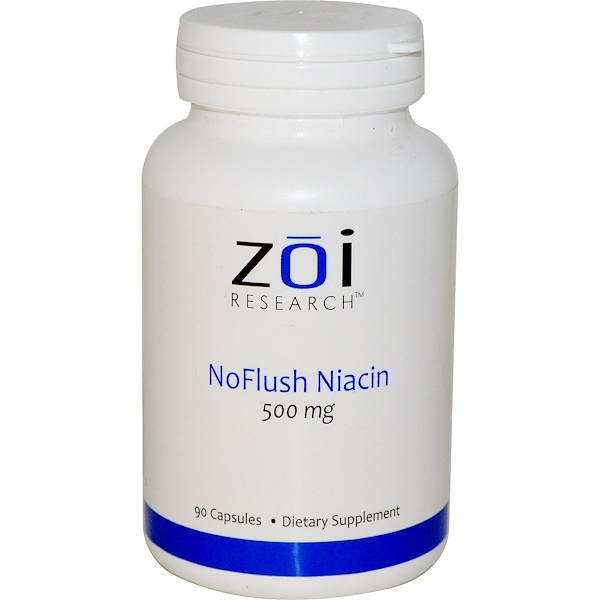 ZOI Research, NoFlush Niacin, 500 mg, 90 Capsules (Discontinued Item)