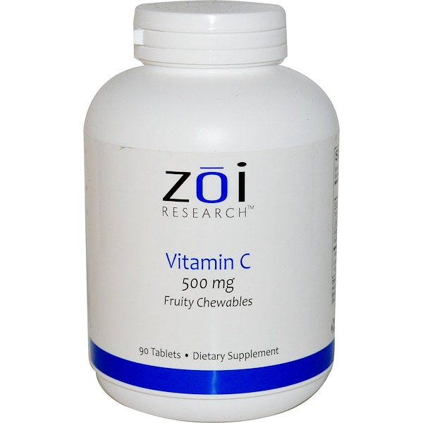 ZOI Research, Vitamin C, Fruity Chewables, 500 mg, 90 Tablets (Discontinued Item)