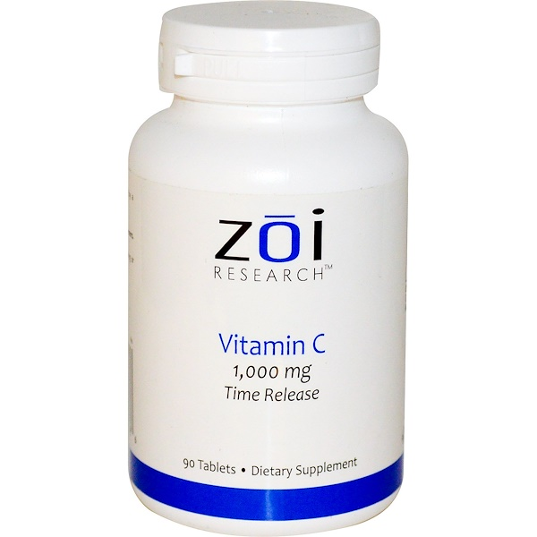 ZOI Research, Vitamin C, Time Release, 1,000 mg, 90 Tablets (Discontinued Item)