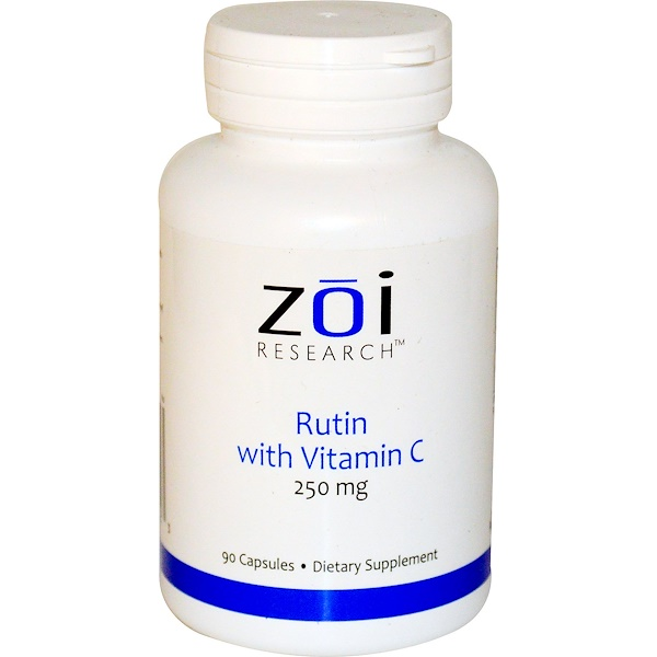 ZOI Research, Rutin with Vitamin C, 250 mg, 90 Capsules (Discontinued Item)