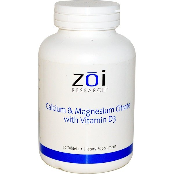 ZOI Research, Calcium & Magnesium Citrate with Vitamin D3, 90 Tablets (Discontinued Item)