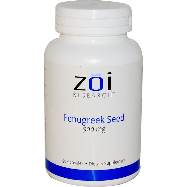 ZOI Research, Fenugreek Seed, 500 mg, 90 Capsules  (Discontinued Item)
