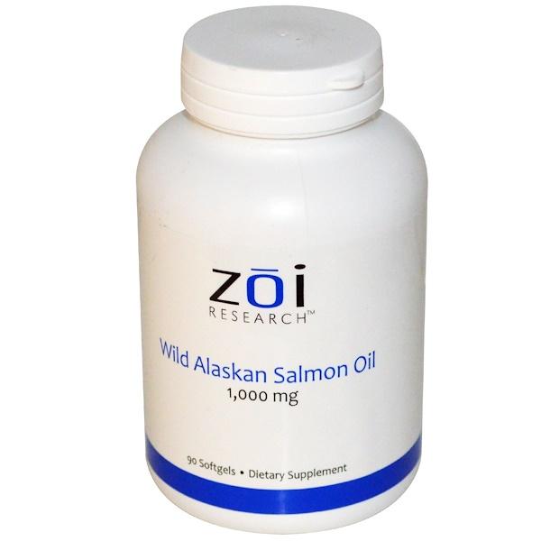 ZOI Research, Жир дикого аляскинского лосося, 1000 мг, 90 мягких желатиновых капсул (Discontinued Item)