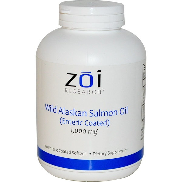ZOI Research, Wild Alaskan Salmon Oil, 1,000 mg, 90 Enteric Coated Softgels (Discontinued Item)