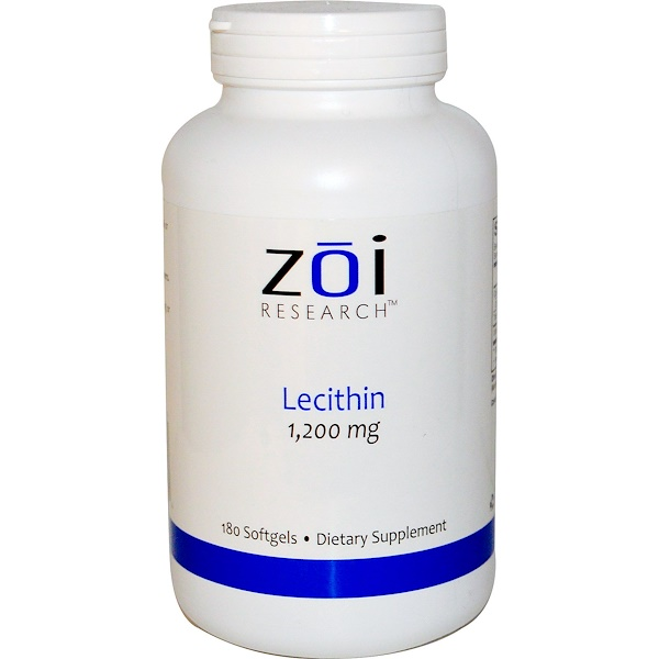 ZOI Research, Lecithin, 1,200 mg, 180 Softgels (Discontinued Item)