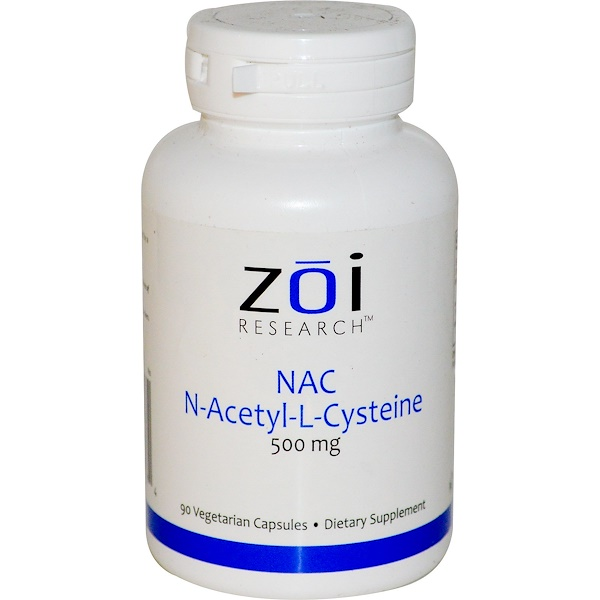 ZOI Research, NAC, N-Acetyl-L-Cysteine, 500 mg, 90 Veggie Caps (Discontinued Item)
