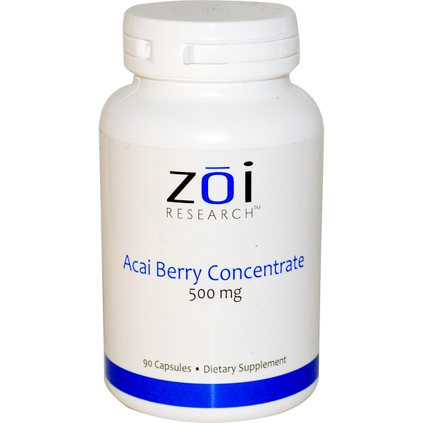 ZOI Research, Acai Berry Concentrate, 500 mg, 90 Capsules (Discontinued Item)