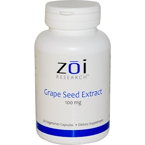 ZOI Research, Grape Seed Extract, 100 mg, 60 Veggie Caps отзывы