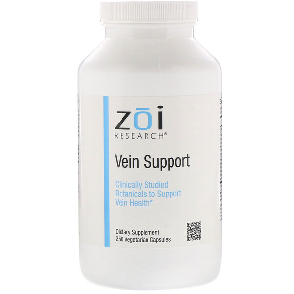 ZOI Research, Vein Support, 250 Vegetarian Capsules