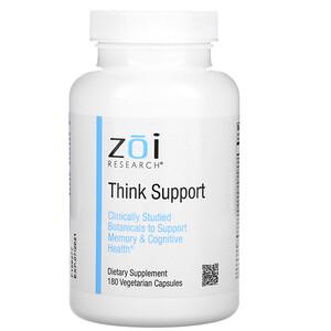 ZOI Research, Think Support, 180 Vegetarian Capsules отзывы покупателей