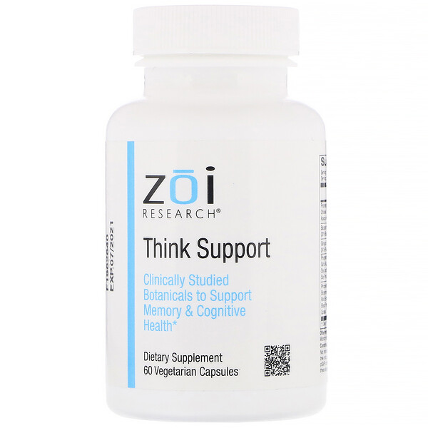 ZOI Research, Think Support, 60 Vegetarian Capsules