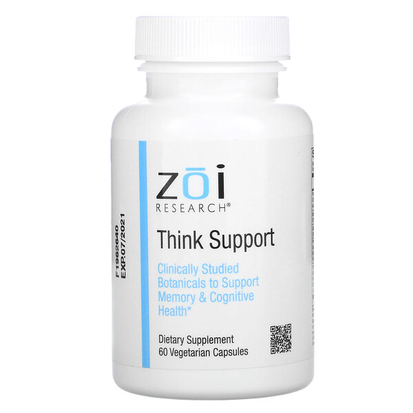 ZOI Research, Think Support,60 粒素食胶囊