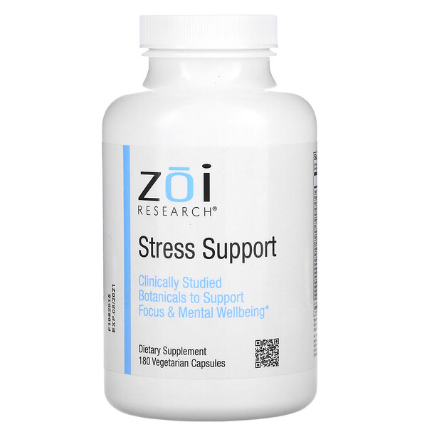 ZOI Research, Stress Support,180 粒素食膠囊