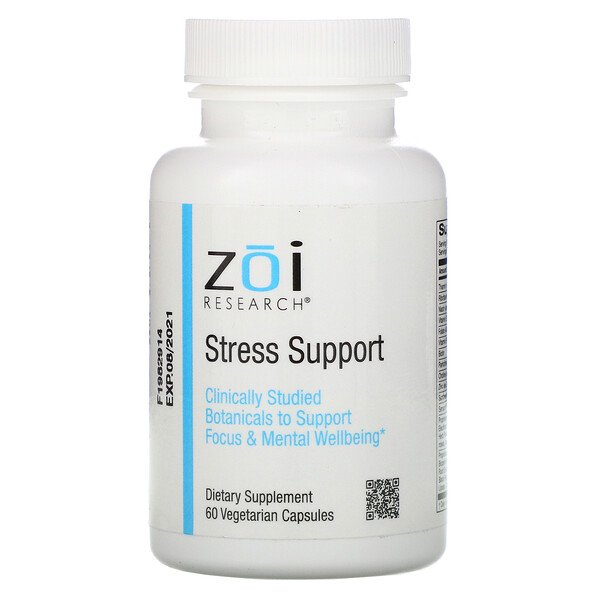 ZOI Research, Stress Support,60 粒素食膠囊