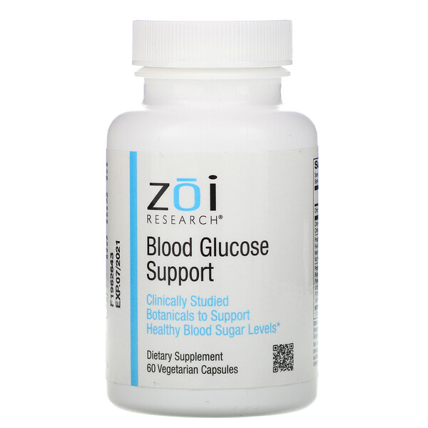 ZOI Research, Suplemento para la glucemia, 60cápsulas vegetales