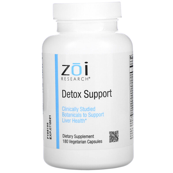 ZOI Research, Detox Support, 180 Vegetarian Capsules