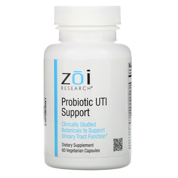 ZOI Research, Probiotic UTI Support, 60 Vegetarian Capsules