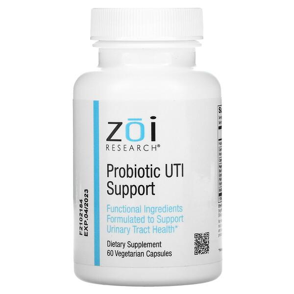 ZOI Research, بروبيوتيك لدعم التهاب المسالك البولية، 60 كبسولة نباتية