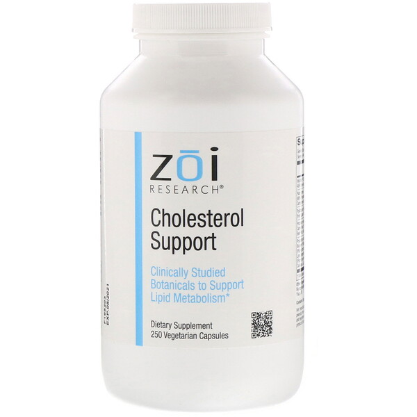ZOI Research, Cholesterol Support, 250 Vegetarian Capsules
